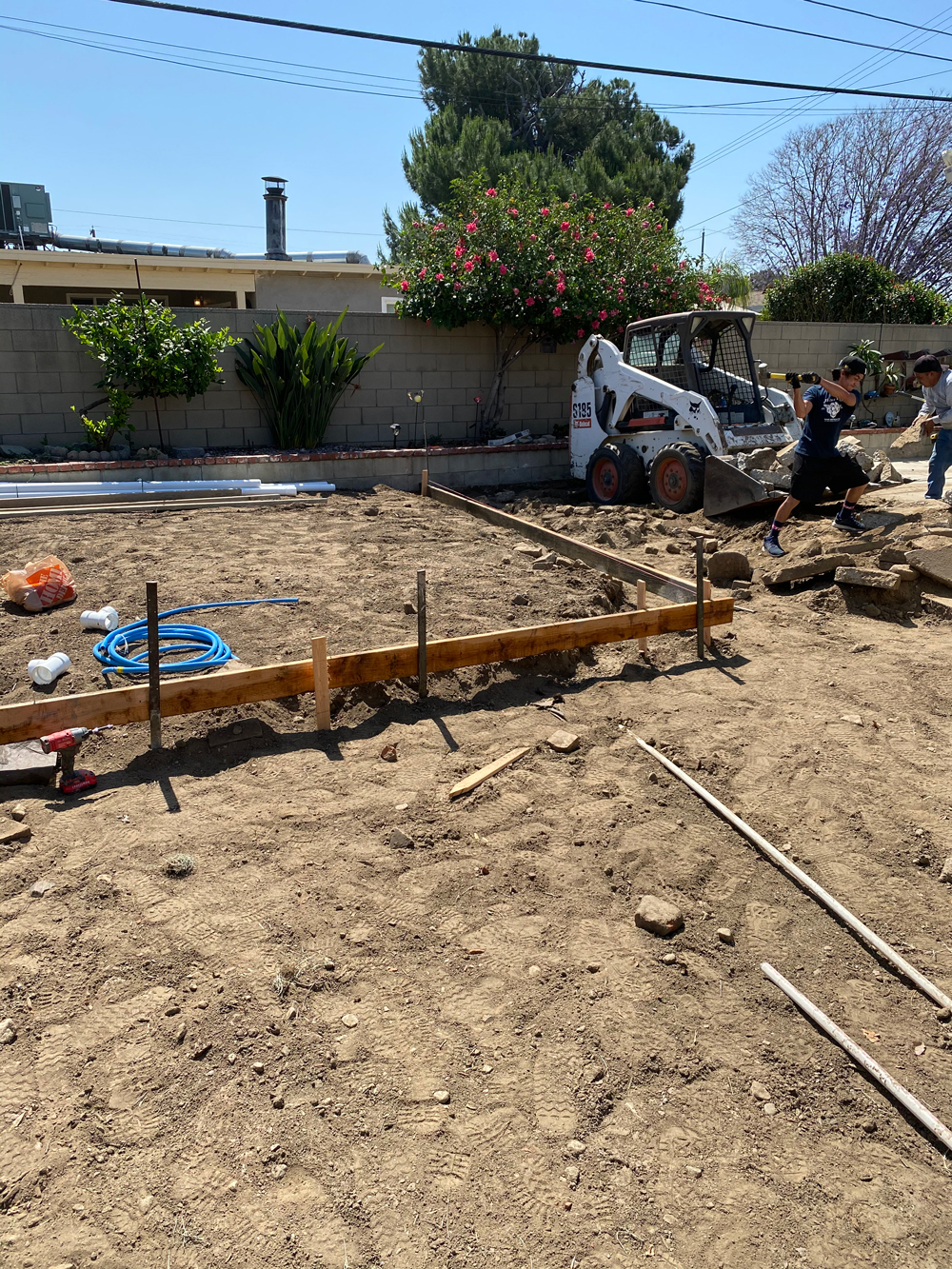 Concrete Prep for new Backyard Area