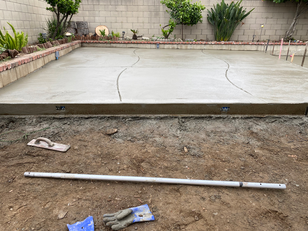 Top Step finished on Concrete Slab