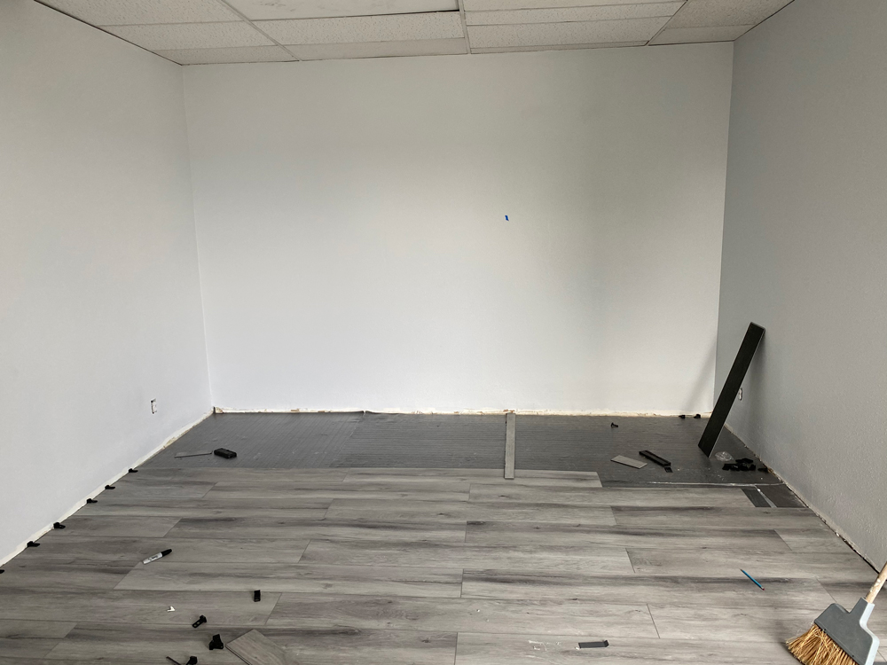 Installation of Vinyl Flooring for a Commerical Bulding