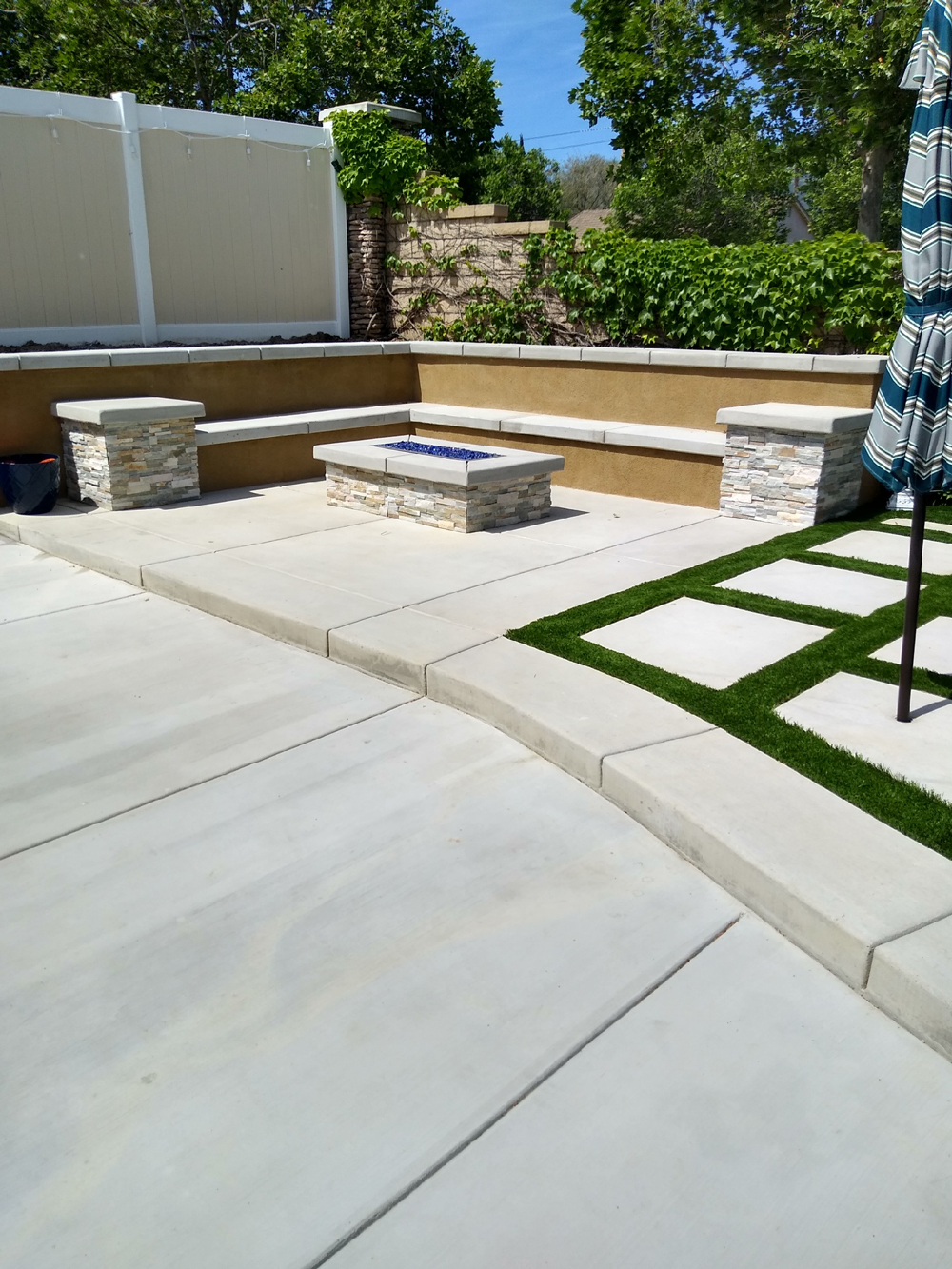 Backyard Renovation with Concrete & Artifical Turf